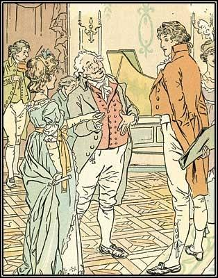 This is an illustration for Pride and Prejudice created by H.M. Brock